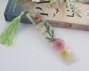 Real Leaf & Flower Resin Bookmark