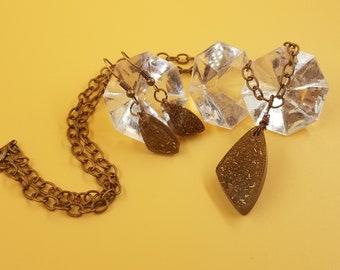Brown & Copper Sparkle 3pc Jewelry Set