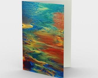 Earth's Grace Blank Card. Art Card. Gift for Her. Gift for Him. Original Artwork