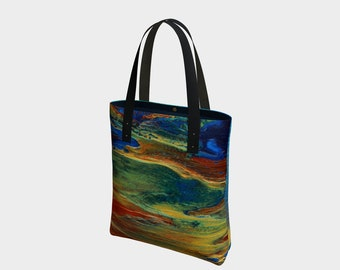 Earth's Grace Tote Bag. Book Bag. Gift for Book Lovers. Gift for Her. Gift for Him.  Art. Vegan Leather or Cotton