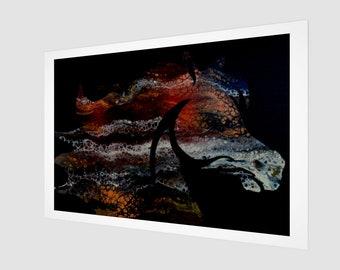 Running Fierce Art Print.  Wall Art.  Wall Décor.  Wall Decoration.  Horse. Rodeo.