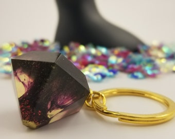 Black & Red Diamond Keychain