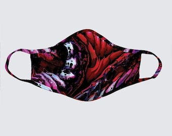 Face Mask - Rich Red Size M