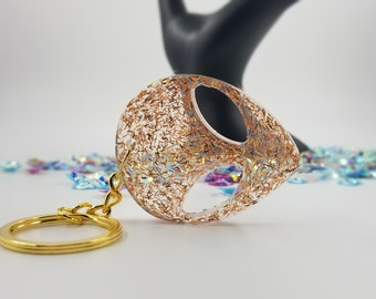 Copper Tinsel Alien Keychain