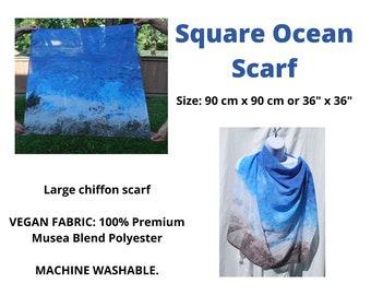 Ocean Chiffon Scarf