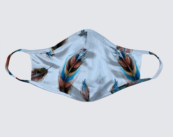 Face Mask - Fall Feathers Size XL