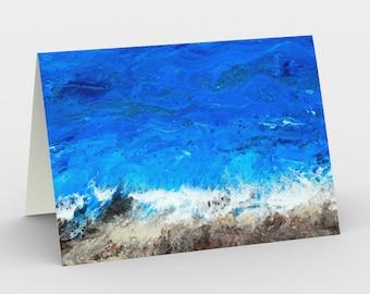 Ocean Breeze Blank Card. Art Card. Gift for Her. Gift for Him. Original Artwork.  Beach