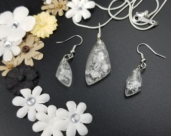 Silver Leaf Stirling Silver, Hypoallergenic Jewelry Set