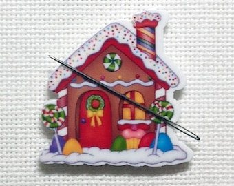 Gingerbread House Needle Minder for Cross Stitch | Embroidery