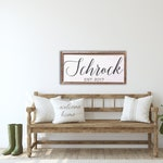 Last Name Established Sign, Wedding Gift, Personalized Gift, Custom Wood Sign, Farmhouse Decor