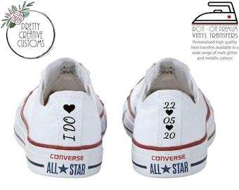 Disney Wedding Converse heel tags iron on transfer stickers