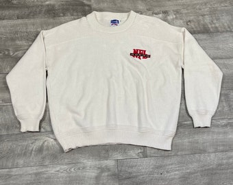Vintage San Francisco 49ers Nutmeg Mills NFL Member Club Knit Sweater Men's Size 2XL - A1