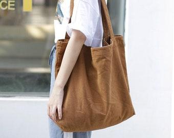Fashion Extra Large Capacity Striped Print Cotton Canvas Beach Tote Bag Canvas Handbags, Messenger bag, Cotton crossbody bag