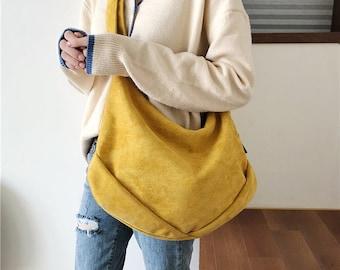 4 Color Large crossbody bag, Messenger bag, Cotton crossbody bag, Shoulder bag, Hippie Bag, Boho Bag