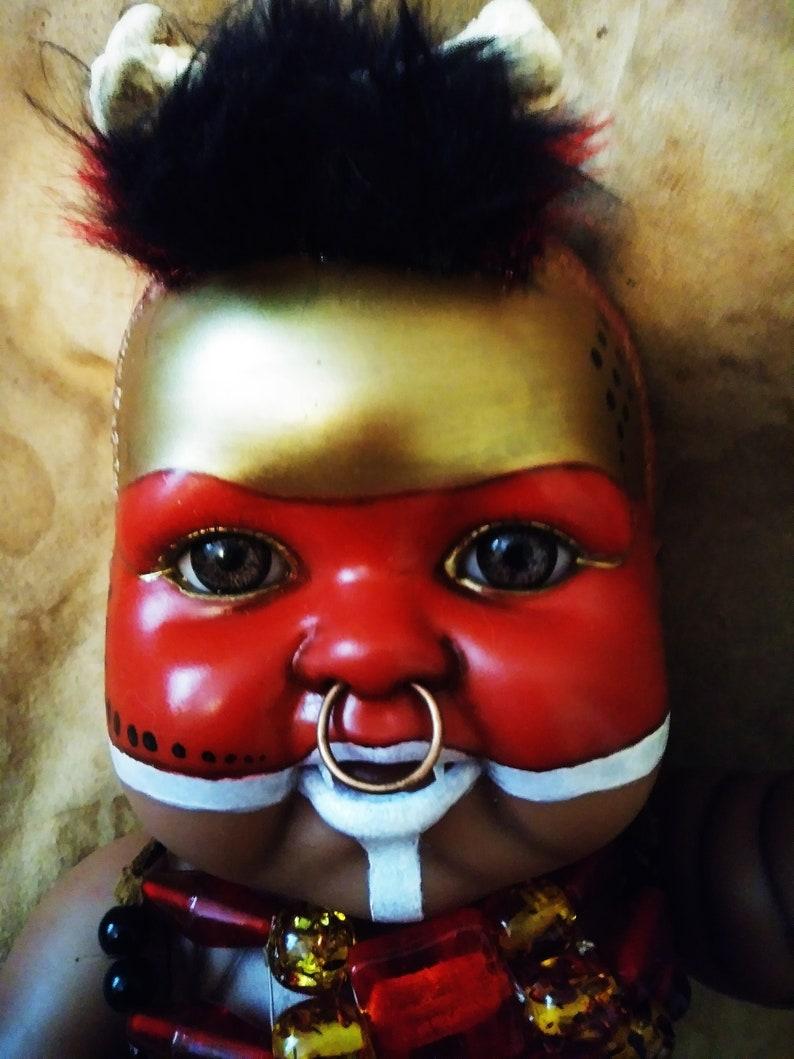 ooak Reborn fantasy doll ethnic tribal baby