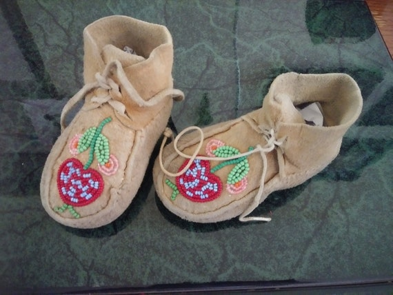Vintage 1860s baby native moccasins.