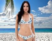 Blue Leaves Reversible Bikini