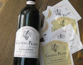 Star Trek - Nemesis - Chateau Picard Wine Bottle Gummed Labels  ( Set of Four )