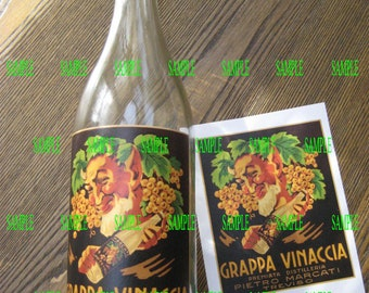 The Fifth Element Wine Bottle Grappa label