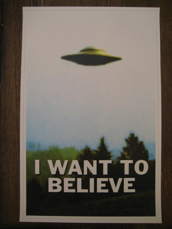 X-Files I Want to Believe Poster in a Keyring /& Bag Tag Gift UFO Aliens Mulder