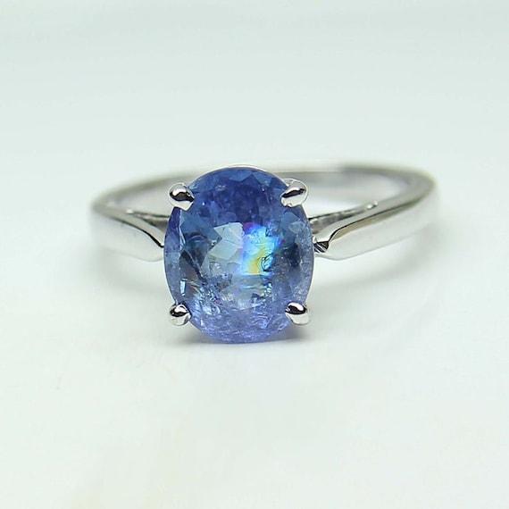 Engagement Ring Handmade jewelry Tanzanite Gemstone 925 Silver Sterling Ring Full Eternity Band December Birthstone Ring Propose ring