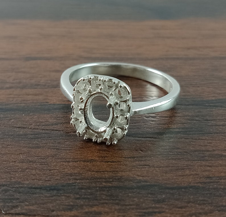 7X5MM Oval Semi Mount Ring-Without Stone Ring-Ready To be Set With Your Own Stone-925 Sterling Silver Ring-Promise Ring-Prong Setting Ring