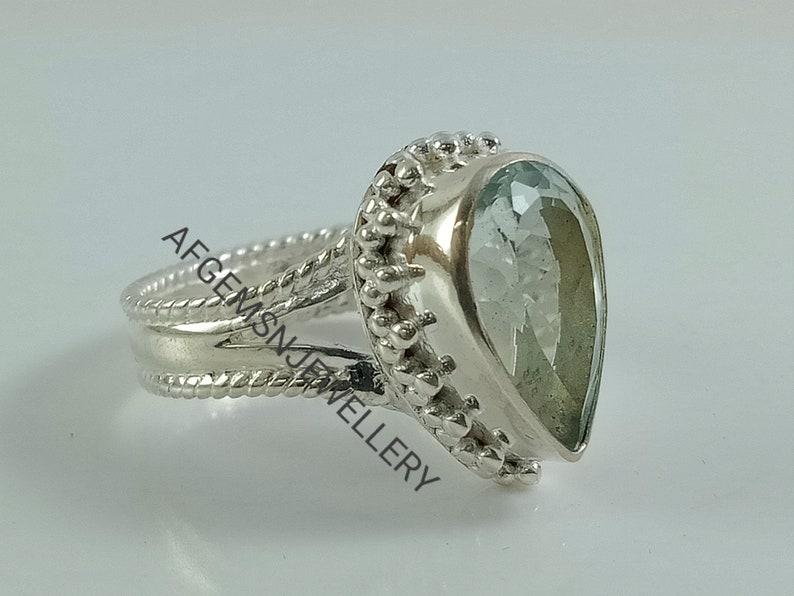 Natural Sky Blue Topaz Ring-Blue Topaz Ring-Engagement Sky Blue Topaz-Unique Blue Topaz Ring-Topaz Ring-Sky Blue Topaz-Topaz Jewelry Rin