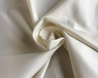 "Cream Luxury Sateen Curtain Lining Fabric Material 54/"" 137cm *2 Sizes*"