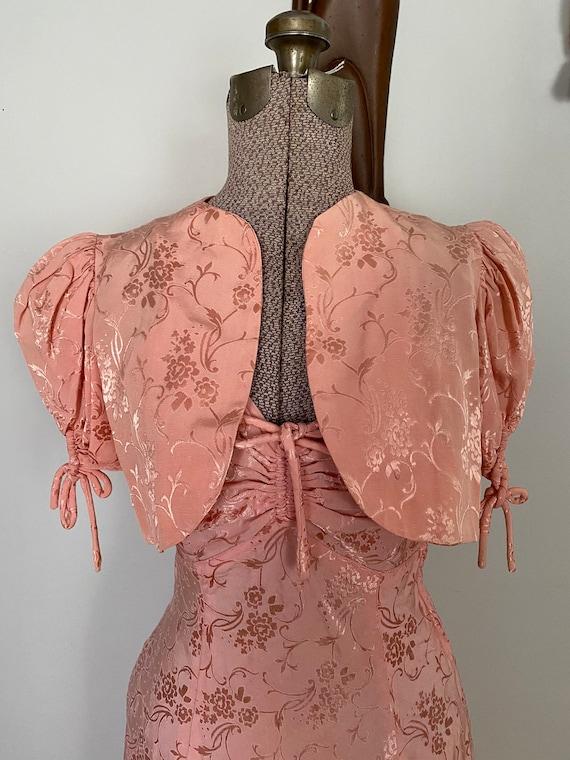 Vintage Late 30's dress and crop jacket set - image 5