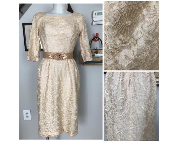 True Vintage 1950's spiderweb dress