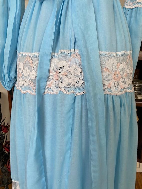 Vintage unlabeled Gunne Sax style prairie dress - image 6