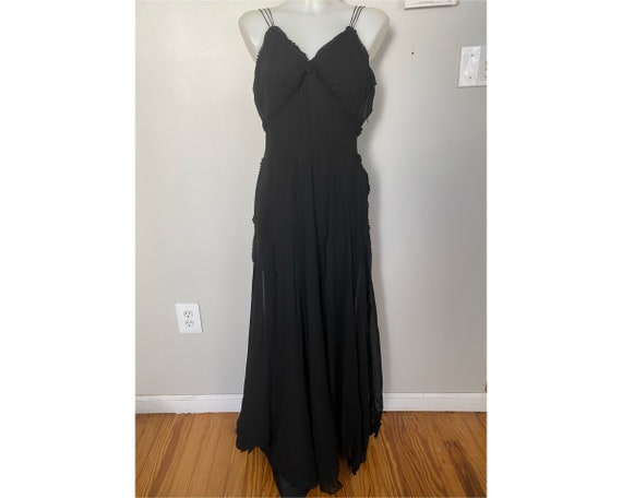 Vintage Late 1930's Silk Bias Cut Gown
