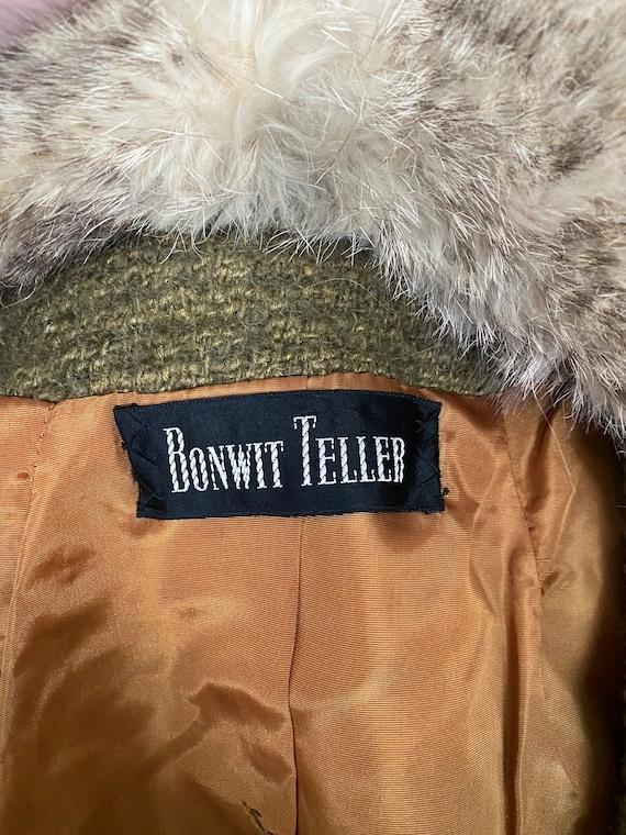 Vintage Bonwit Teller wool and fur skirt suit - image 6