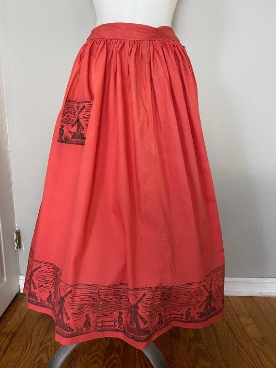 Vintage Dutch novelty print skirt - image 2