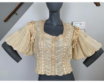 Rare Vintage 1950's Sybil Connolly Pleated Linen Blouse | Rare Vintage | Collectable Vintage | 1950s Vintage | Vintage Couture