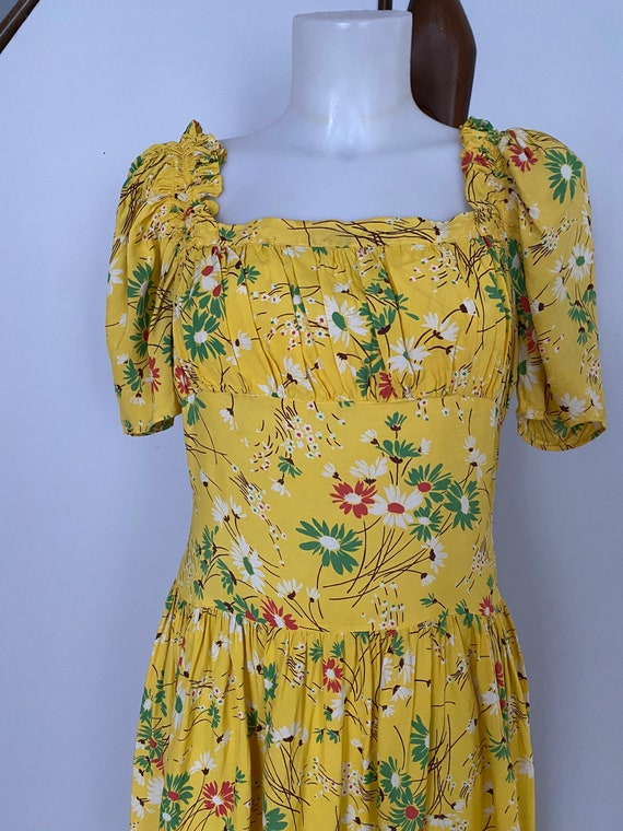 Vintage 1930's Daisy Gown - image 3