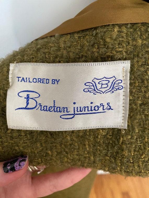 Vintage Bonwit Teller wool and fur skirt suit - image 7