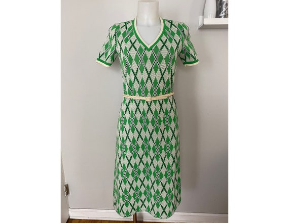 Vintage Kimberly argyle knit dress