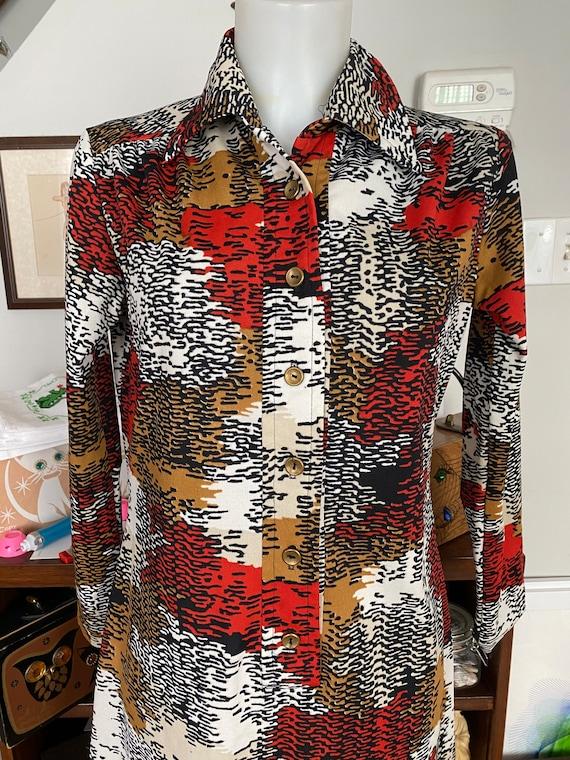 Vintage 1970's Toni Todd mod shirt dress - image 4