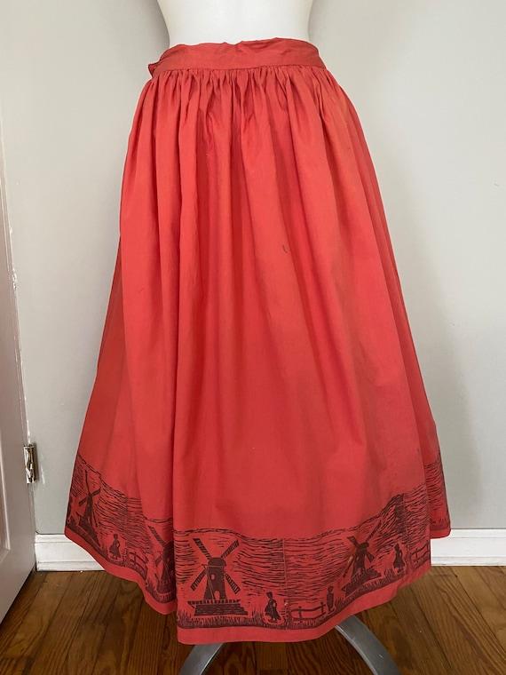 Vintage Dutch novelty print skirt - image 3