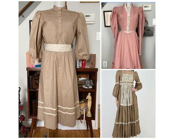 Vintage 1970's Gunne Sax style dress