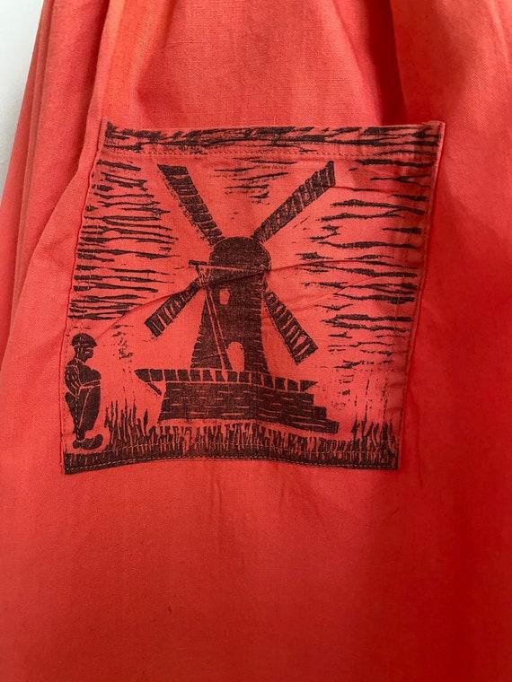 Vintage Dutch novelty print skirt - image 5