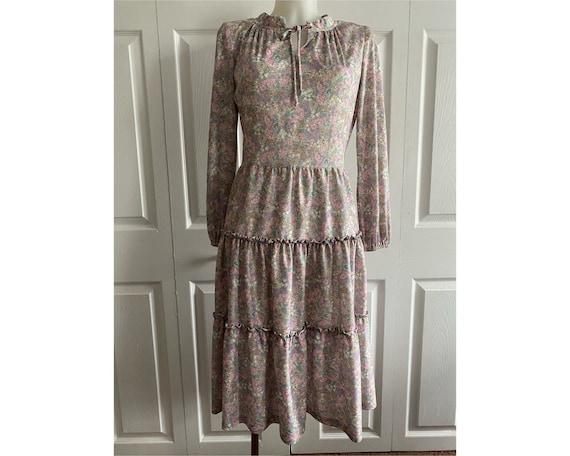 Vintage 1970's peasant dress