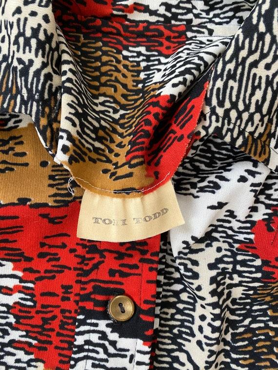Vintage 1970's Toni Todd mod shirt dress - image 5