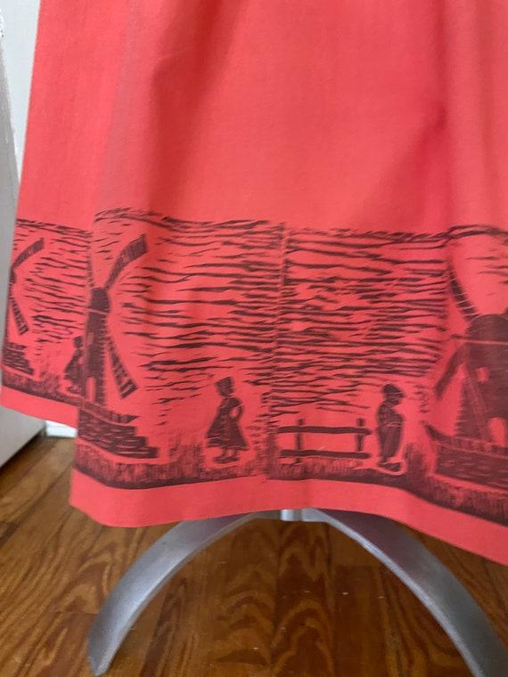 Vintage Dutch novelty print skirt - image 4