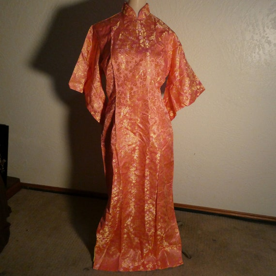 Vintage Cheongsam Dress Pink Fashions from Orient