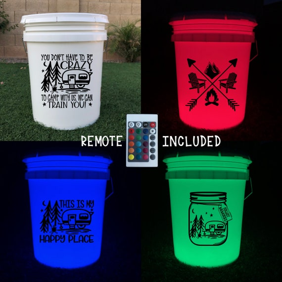 Lake Camping Light Up Bucket Beverage Bucket Outdoor DECAL ONLY for Bucket Light Outdoor Color Changing