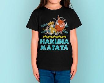 e5685a1b2a18 Lion King Simba, Timon amd Pumba Cool Kid T Shirt Unisex, Funny Toddler T  Shirt 100% Cotton Premium Quality, Cool Boy T Shirt, Girl T Shirt