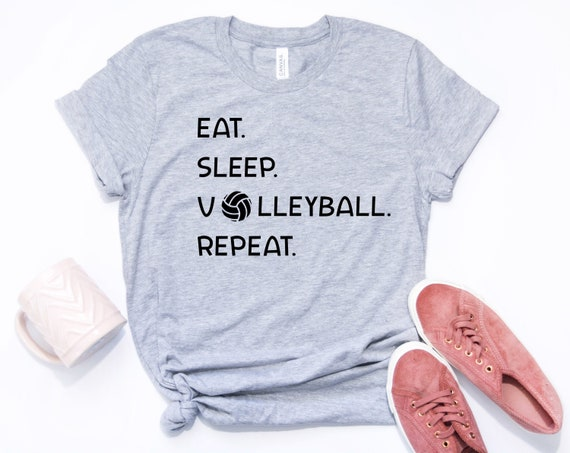 Volleyball T-Shirt Jersey Eat Sleep New Yth and Adult sizes