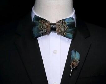 Original Design Natural Bird Feather - Bow Tie 22